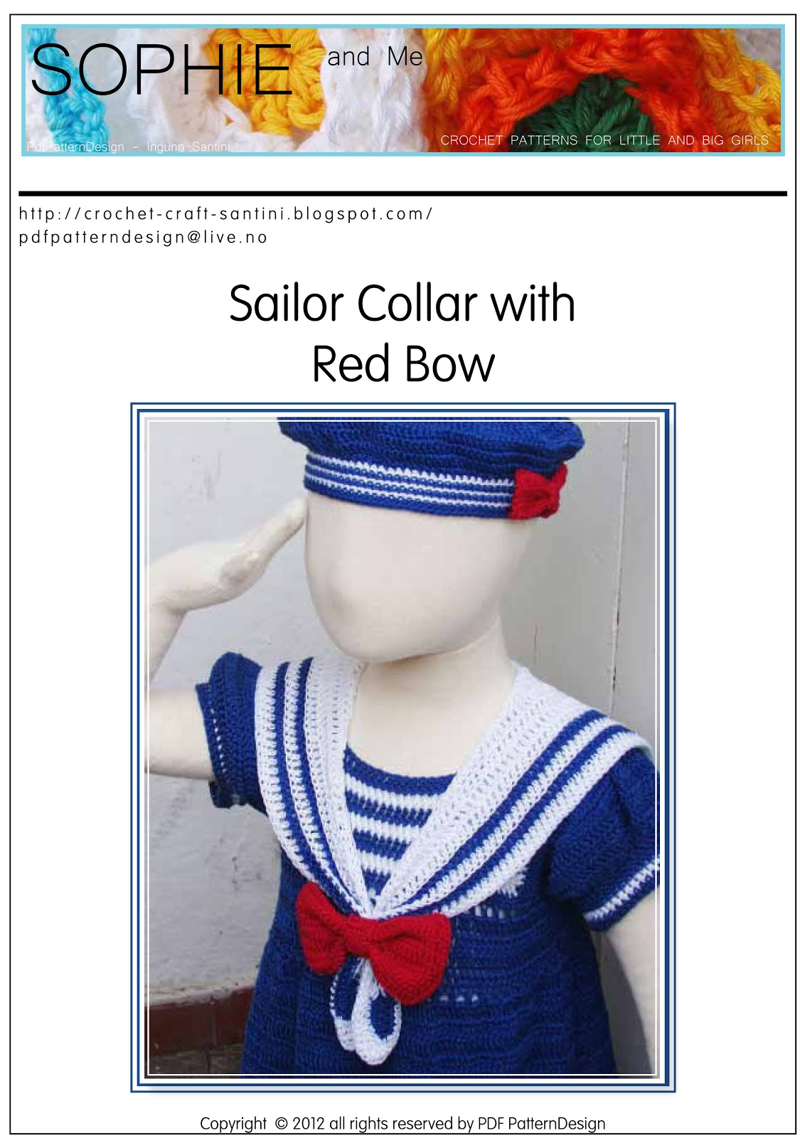 93b06ccea17af7 CROCHET PATTERN SAILOR DRESS