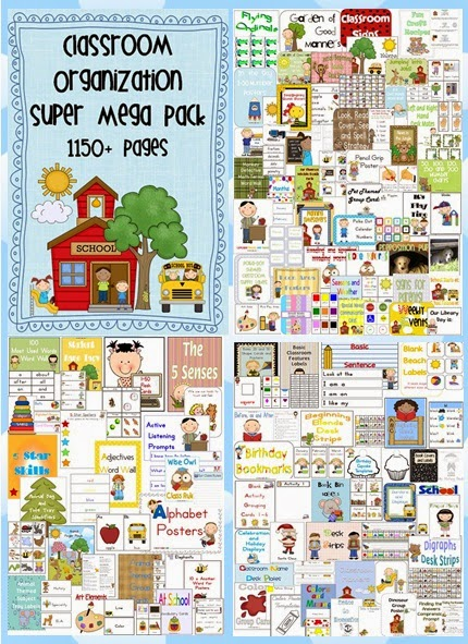Classroom Organization Super Mega Pack – 76 files – 1150+ pages