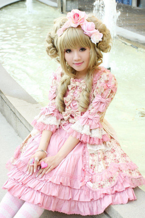 cute sweet pink Lolita clothes