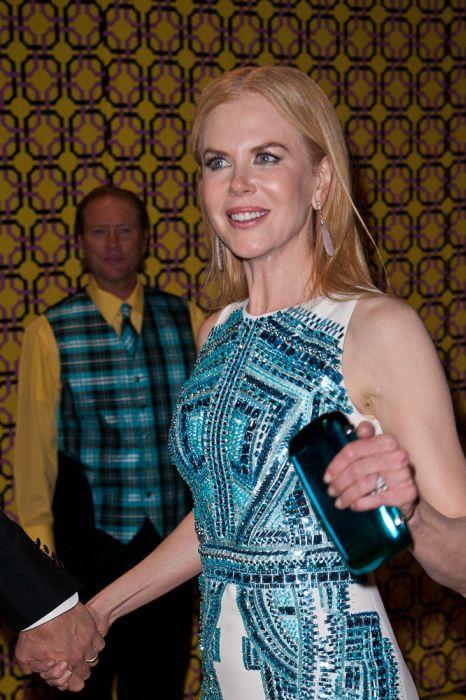 Nicole Kidman - przykład bardzo złego makijażu