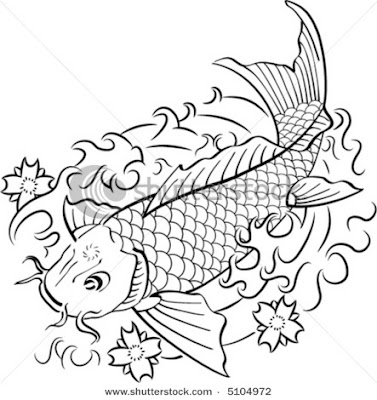 Button tattoo bluetooth koi fish tattoo designs black and for Black and white coy fish