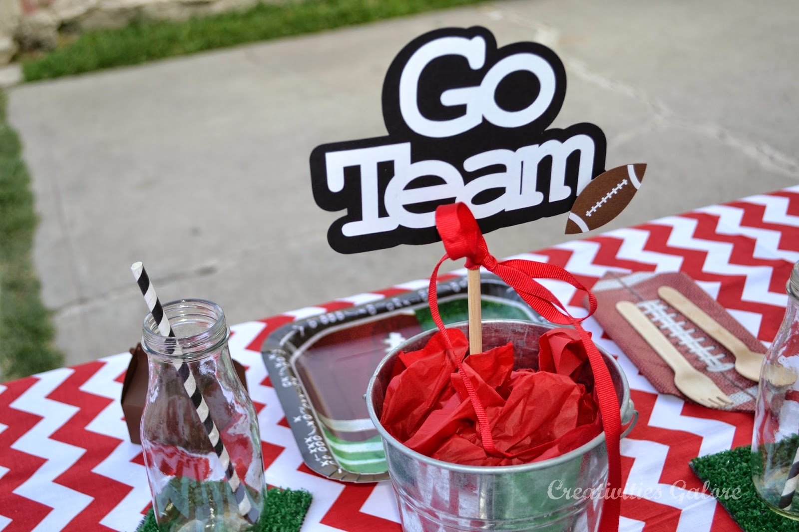 Creativities Galore:: Football Go Team Centerpiece