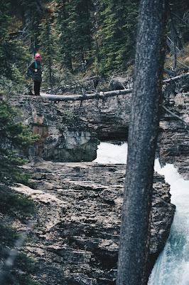 Farah H at Stanley Falls, Jasper National Park, Canada