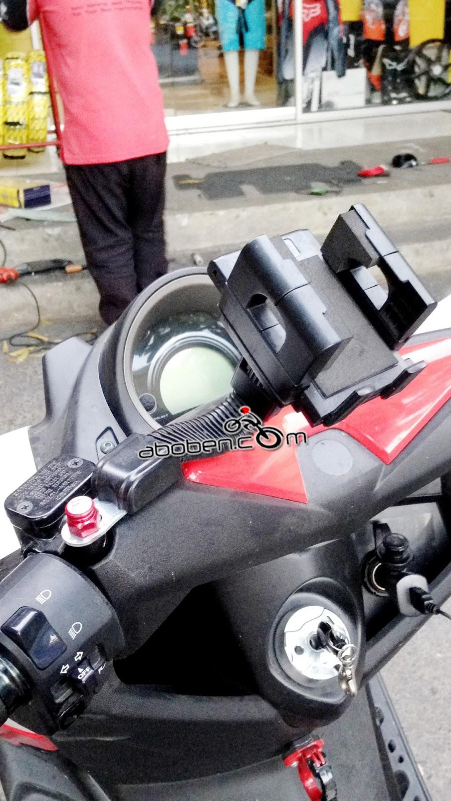 Abobencom Holder Handphone Gps Hp Motor Spion 110