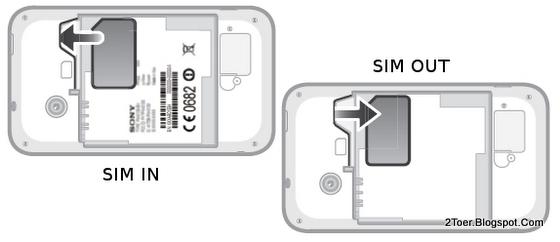 Sony Xperia tipo ST21 Insert Remove SIM Card