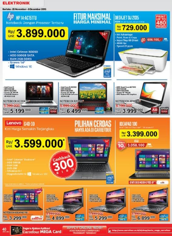 Harga Laptop Berbagai Merk Baru Murah Di Carrefour