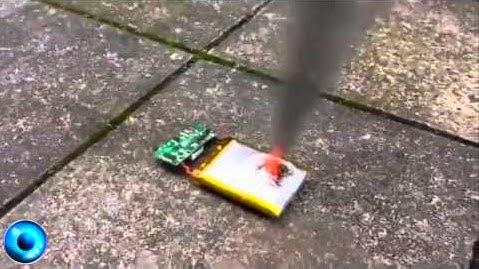 Batería de celular explota