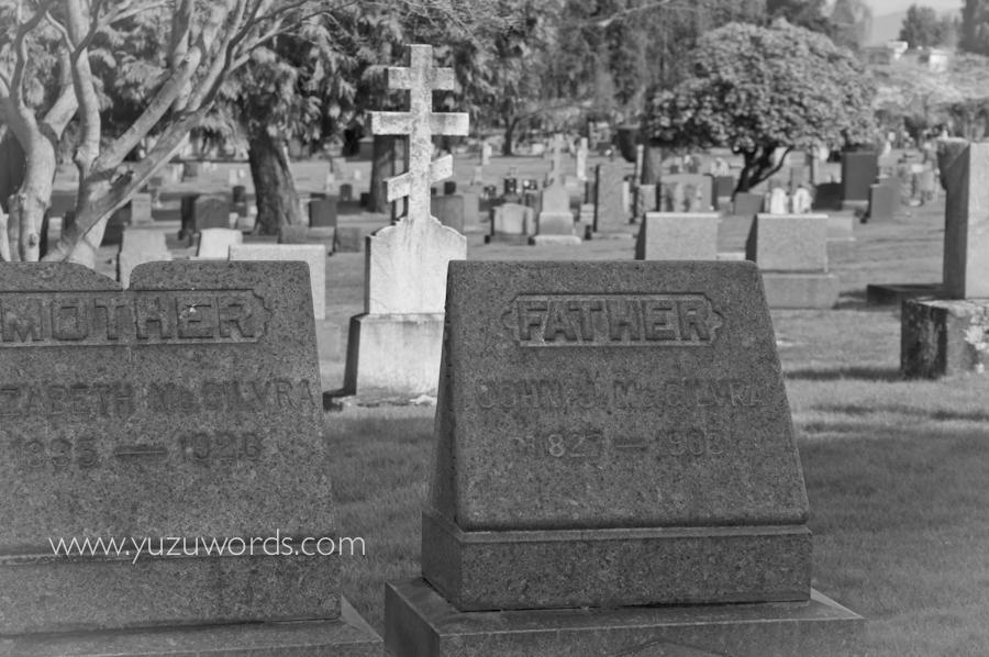 ゆずみそ手帖: レイクビュー墓地にて