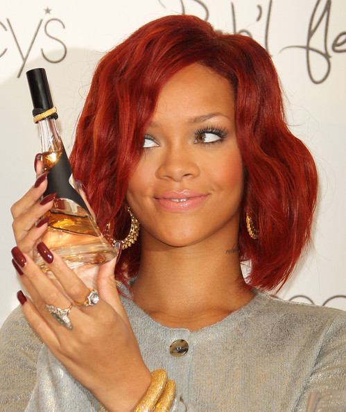 rihanna hair 2011 pics. rihanna red hair 2011