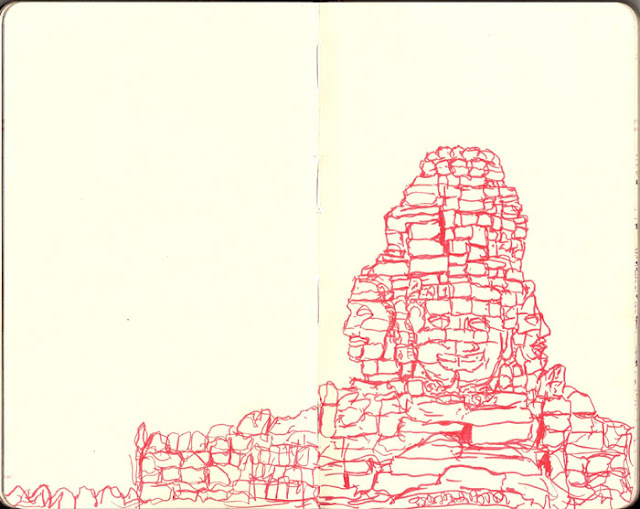 Chetan Kumar - Angkor Wat sketchbook illustration