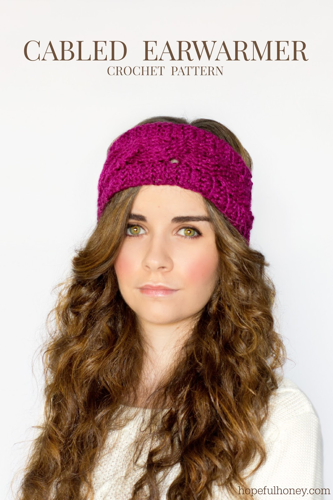 Free Crochet Pattern Headband Ear Warmer Button : Hopeful Honey Craft, Crochet, Create: Cabled Earwarmer ...