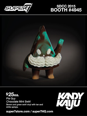 "San Diego Comic-Con 2015 Exclusive ""Chocolate Mint Swirl"" Kandy Kaiju Mini Vinyl Figures by Super7 - Pie Guy"