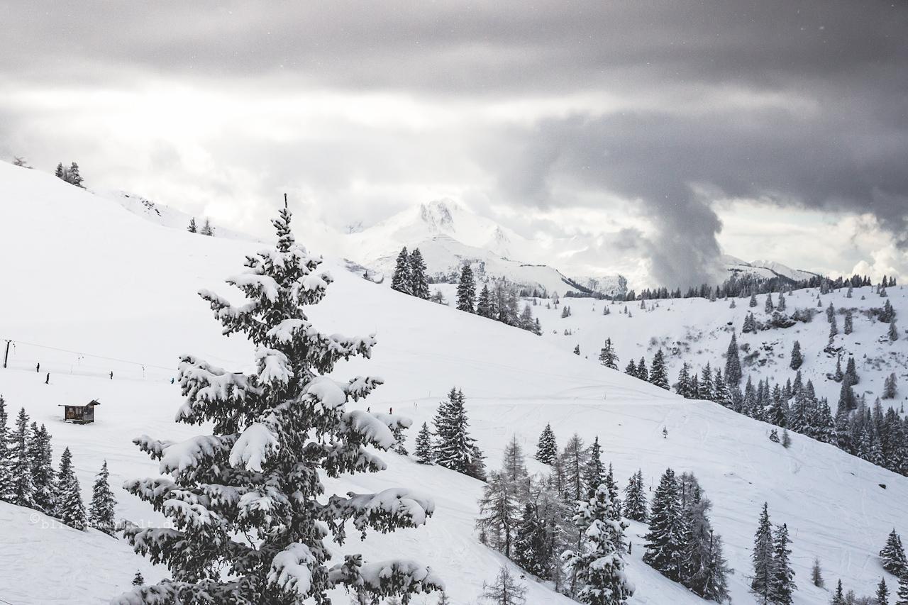 Schnee in den Kitzbüheler Alpen