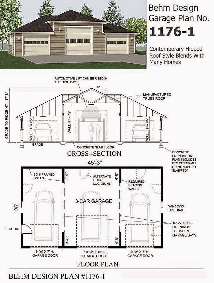 Garage Plans Blog Behm Design Garage Plan Examples: garage layout planner