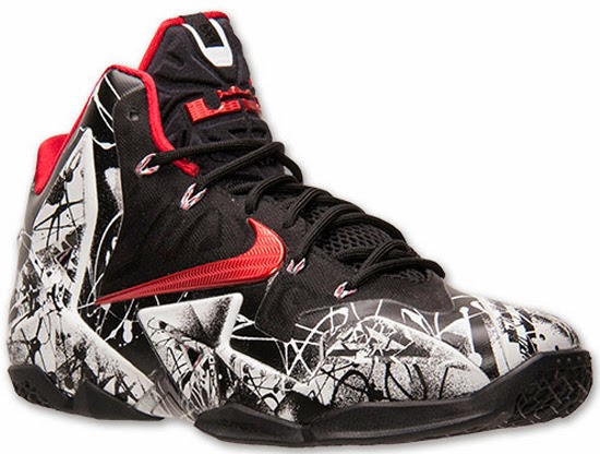 Nike LeBron 11 \u0026quot;Graffiti\u0026quot; White/University Red-Black Release Reminder