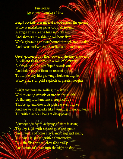 Letters From Annie (Douglass) Lima: Fireworks (a Poem)