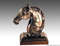 horse statue, original art, clay art