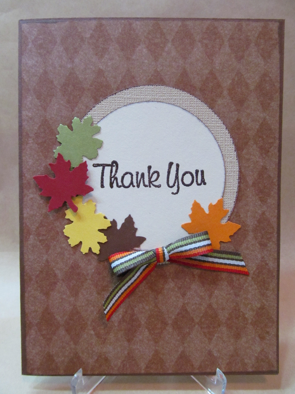 Savvy Handmade Cards Fall Thank You Card