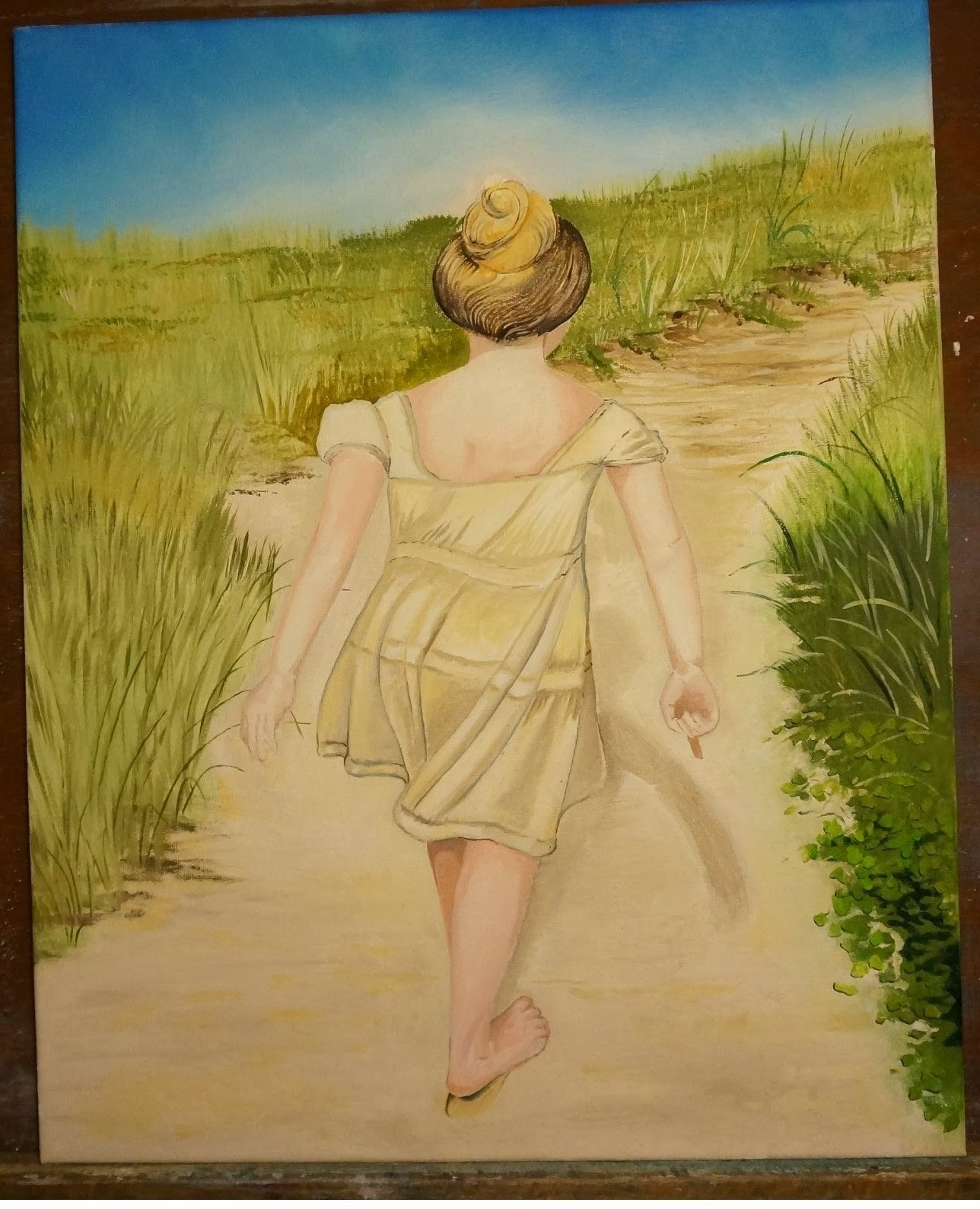 Oil on Canvas/Girl on Dunes of Avon, NC