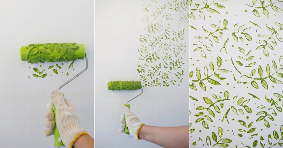 Transforme a parede com rolo carimbo - Pintura de pizarra para paredes ...