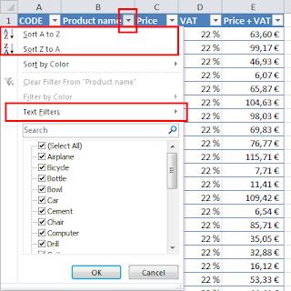 Create table Excel tutorial