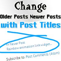 change older posts newer posts with titles