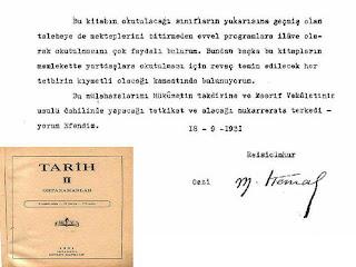 1931 lise tarih kitap ataturk