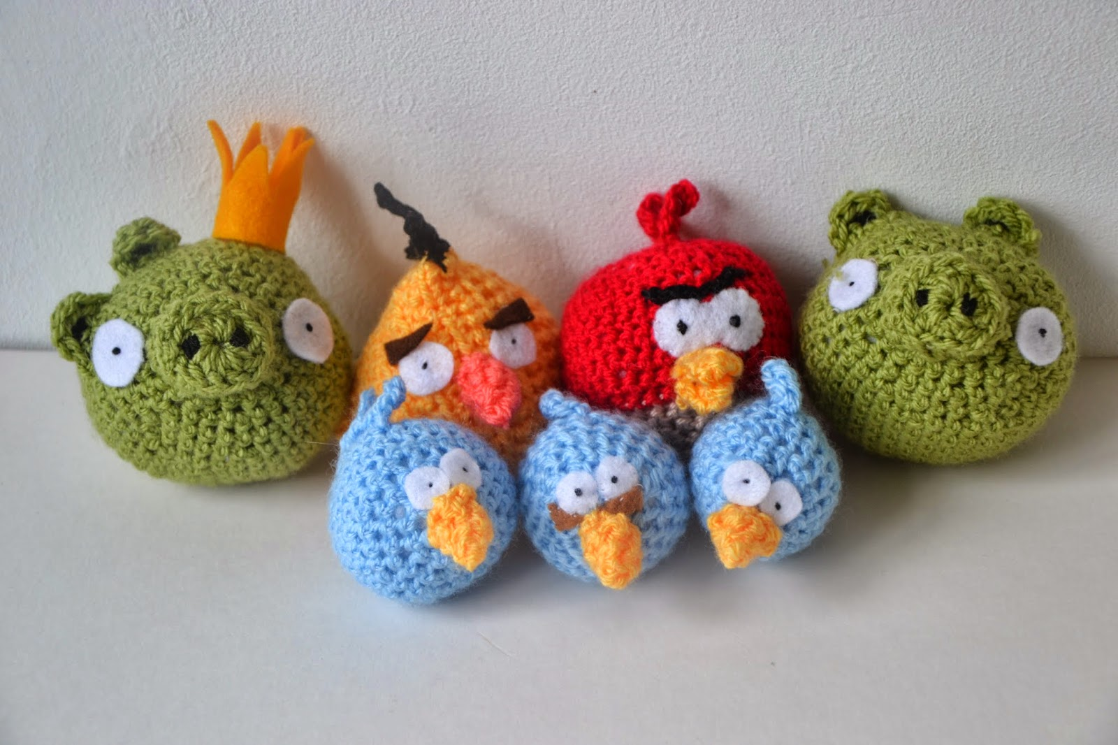 Tadpegs: Crochet Angry Birds: Pig and King Pig Free Pattern