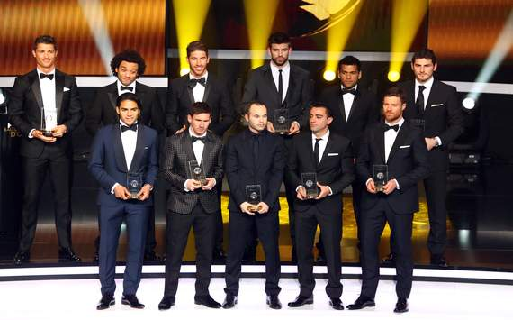 pictures of FIFA team of the year
