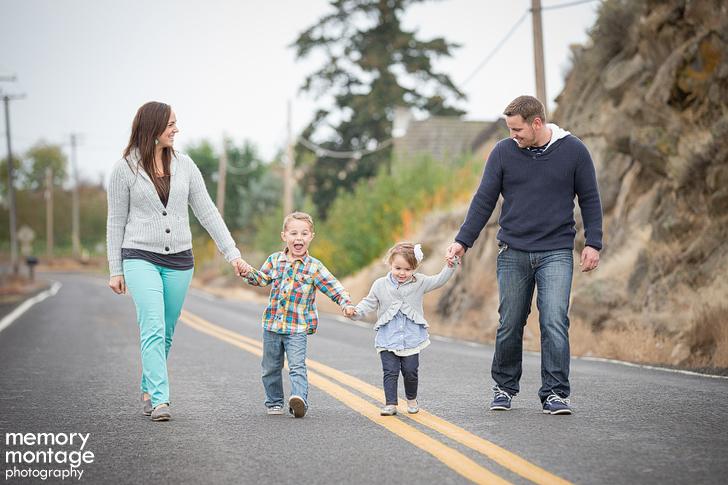 Family Photos with Navy, Teal + Grey