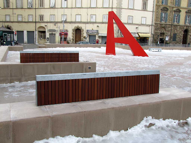 Very poorly conceived benches, piazza Attias, Livorno