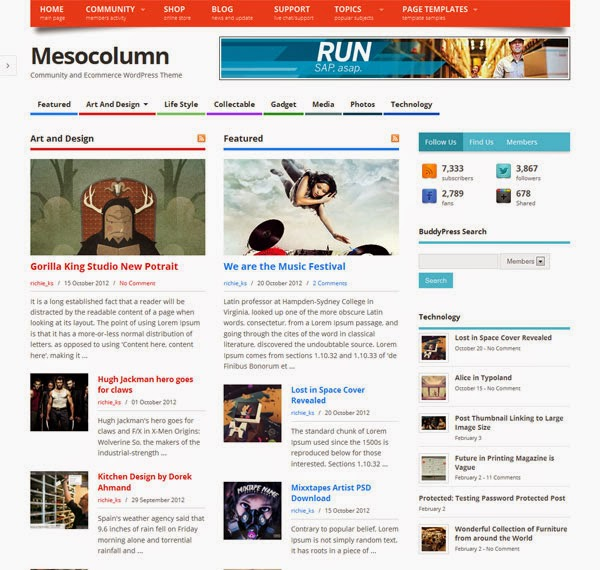 Download Gratis Mesocolumn – Community and Ecommerce Theme for WordPress