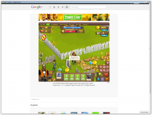 Google plus games - Zombie Lane