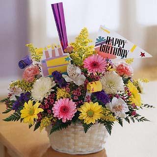 Free Birthday Greeting Card Flowers Image