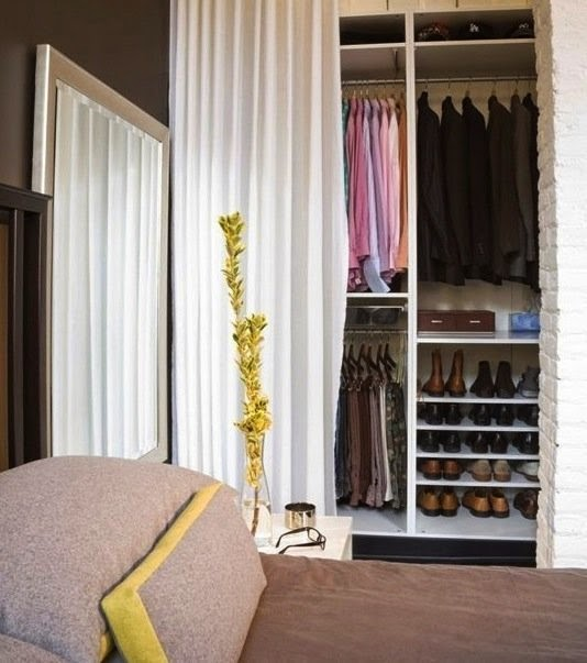 Imagem apartment therapy for Cortinas para armarios empotrados