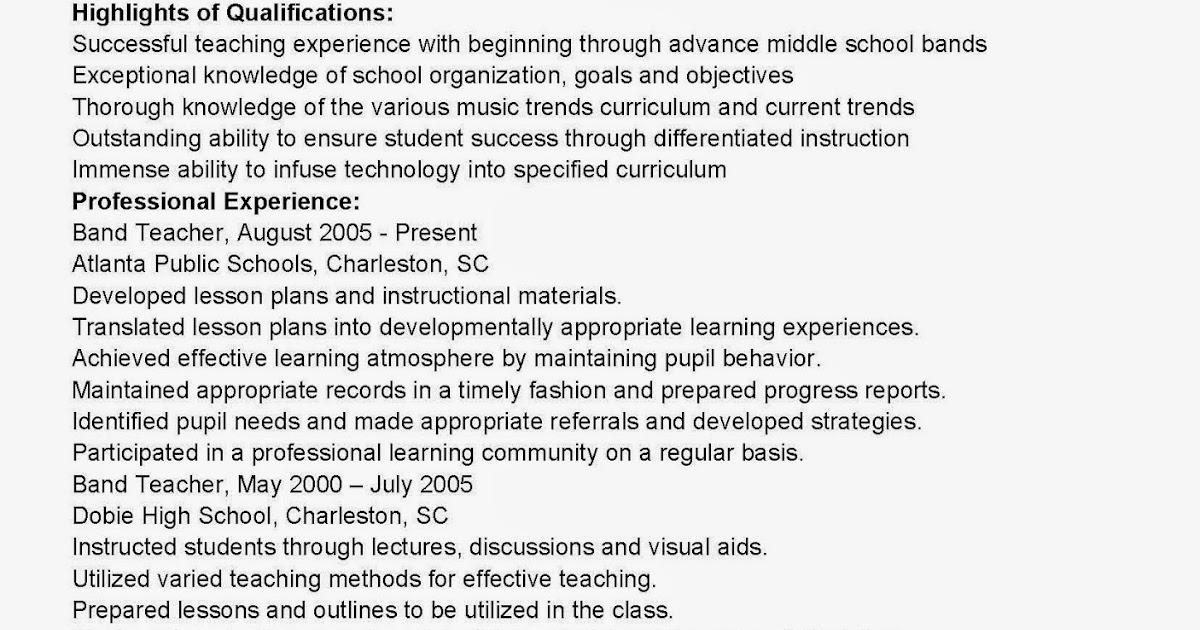 band resume band director resume samples bestsellerbookdb