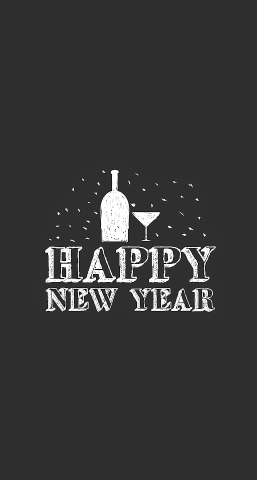 Happy New Year Drinks Minimal  Galaxy Note HD Wallpaper