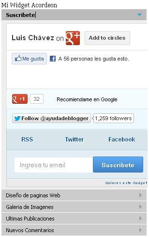 Widget Acordeón para blogger