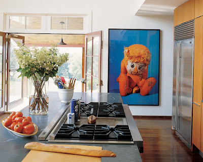 pop, art, kitchen, bright, modern