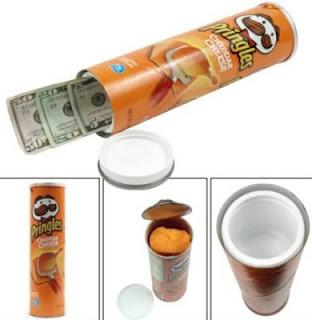 Envase de pringles para ocultar tu dinero