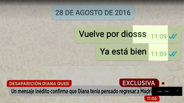 """Diana Quer y la marca de la bestia: """"SSS 11:09"""""""