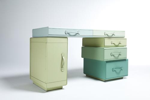 bureau en valises cuir