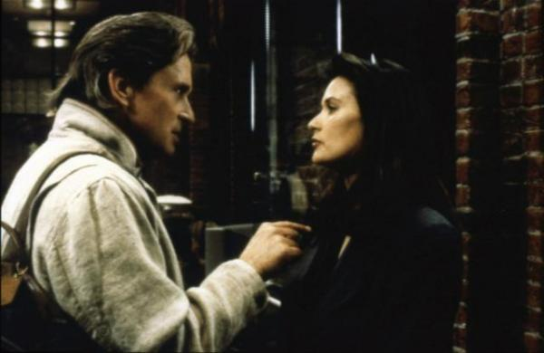movie analysis disclosure This movie is based on the best-selling novel by michael crichton sanders, played by michael douglas, finds himself reporting to meredith, played by demi moore.