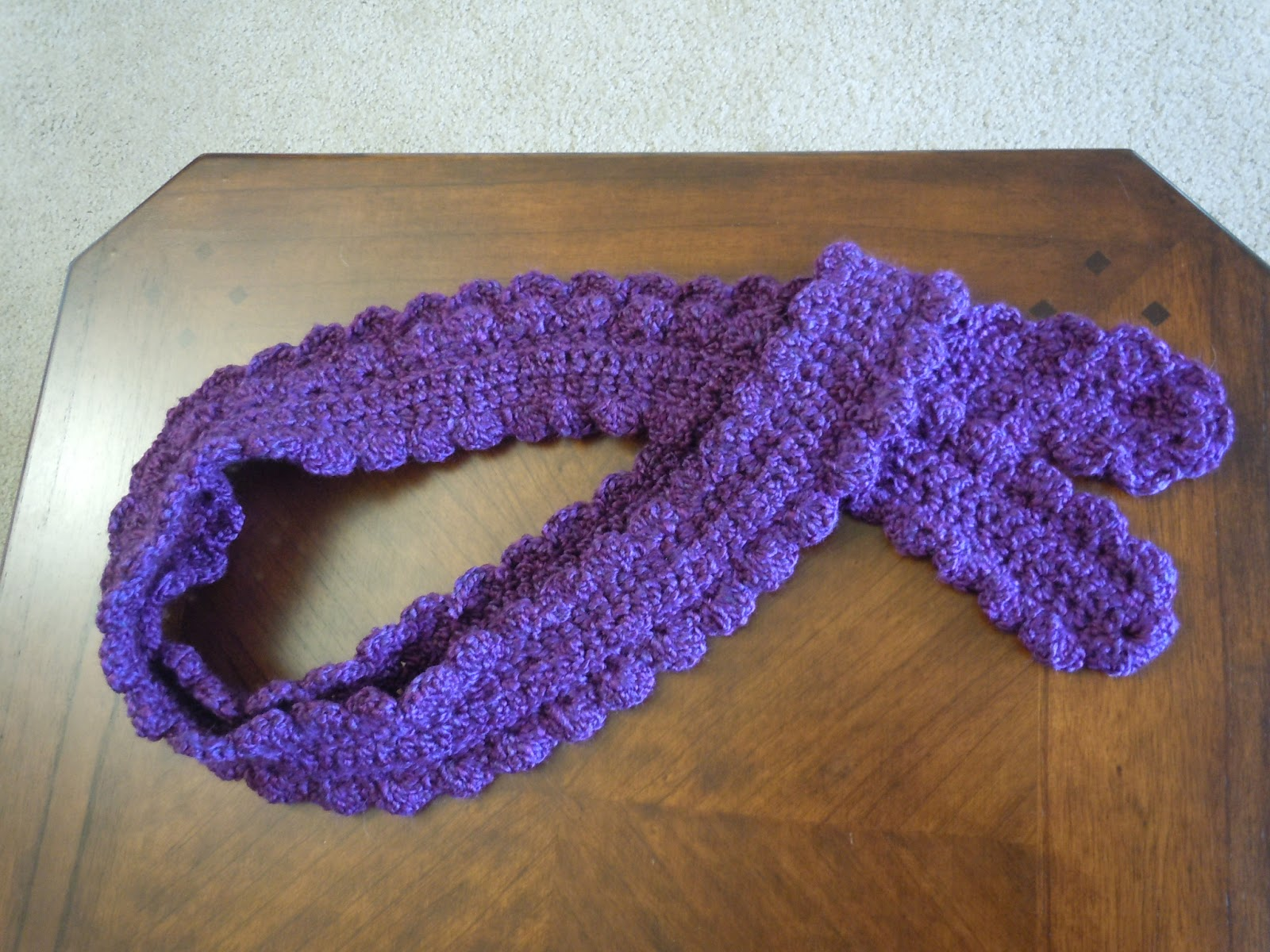 Crochet Patterns One Skein : One+Skein+Scarf+1.JPG