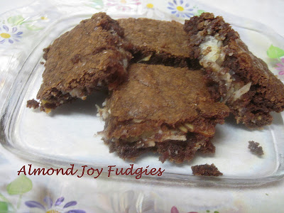 almond joy fudgies (& homemade sweetened condensed milk recipe too)