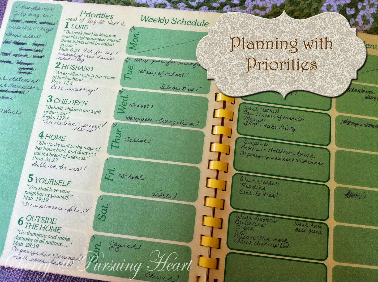Planning with Priorities Series