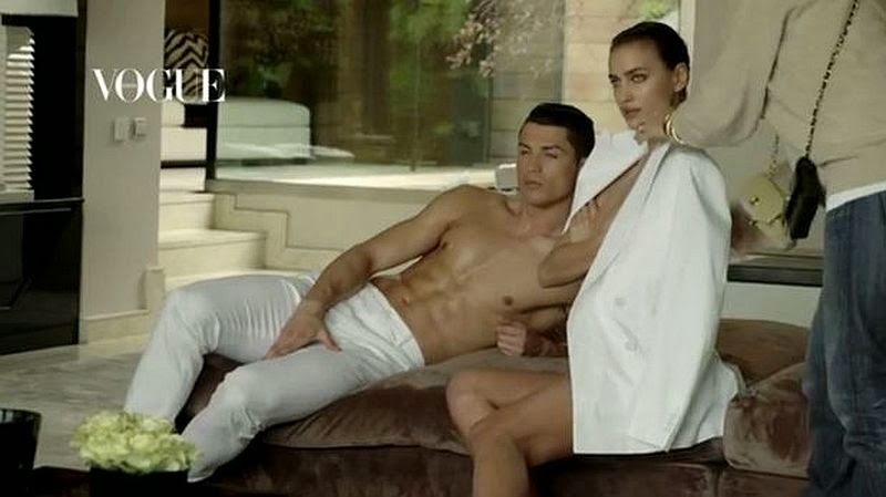 The Supermodel, Irina Shayk and athlete, Cristiano Ronaldo are the glossy's June 2014 cover edition of Vogue magazine, shot by the photographer of Mario Testino.