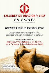 TALLERES DE ORACIÓN Y VIDA, EN ESPIEL