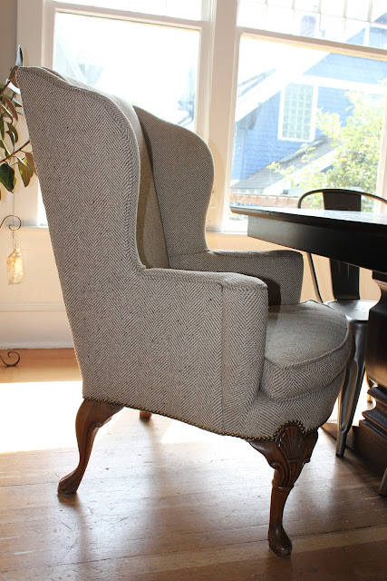 Herringbone Chair Living Room