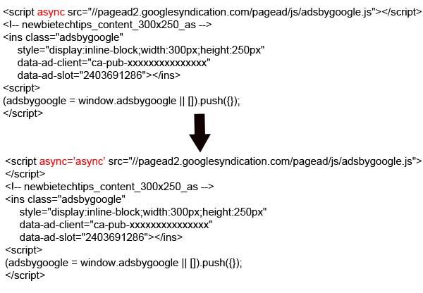 async adsense code